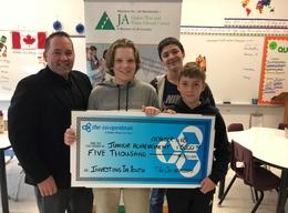 Junior Achievement donation