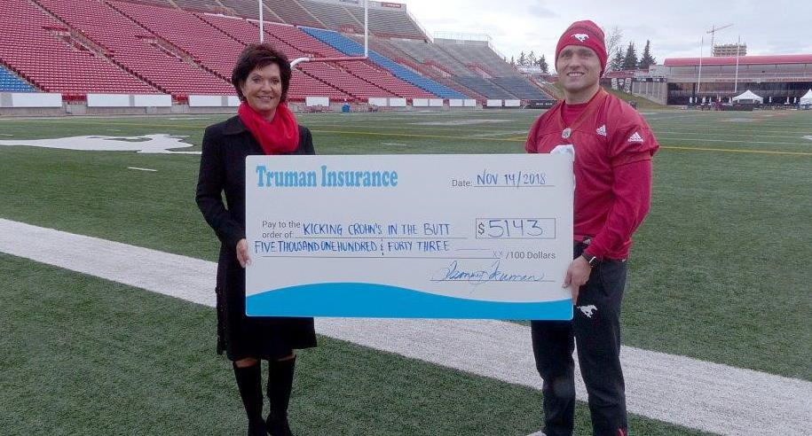 Kicking Crohn's in the Butt with the Calgary Stampeders