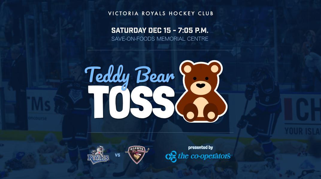 Victoria Royals Hockey Club Teddy Bear Toss
